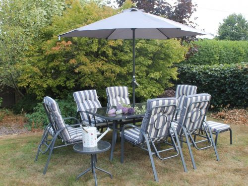 Avondale steel padded dining set for outdoor dining