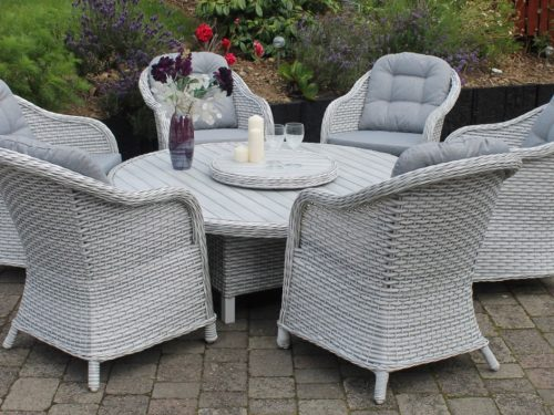Bantry six seat Dining Set rattan furniture
