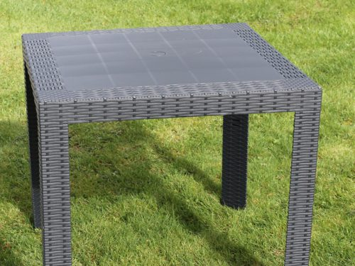 Commercial rattan effect dining table