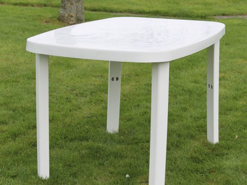 White Resin rectangular table garden furniture Ireland