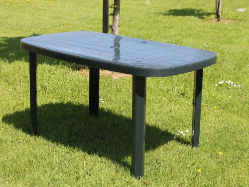 Resin rectangular table green, garden furniture Ireland