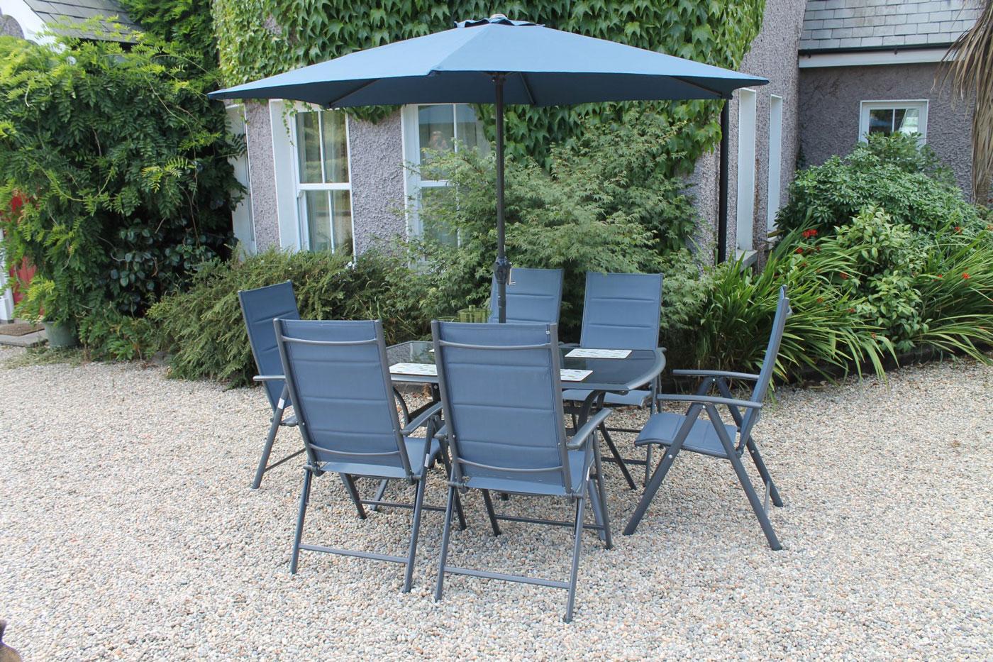 Steel and textilene outdoor furniture ireland
